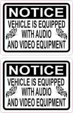 3x225 Butterfly Notice Audio And Video Stickers Car Truck Vehicle Bumper Decal