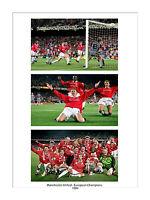 LARGE 1999 EUROPEAN CUP PRINT MANCHESTER UNITED SOLSKJAER GOAL MAN UTD TROPHY