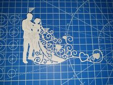 6 x Tattered Lace Delicate Couple Die Cuts - Card Making, Scrapbooking etc.