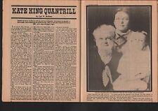 Kate King Quantrill Civil War Child Bride + William Clarke Quantrill,Sarah Head