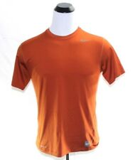 Men's Nike Pro Dri Fit Short Sleeve Athletic Shirt Dark Orange Size Large L