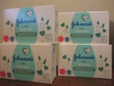 4 Bars-Johnson & Johnson Baby Milk Bar Soap, w/ Milk Proteins and Vitamins E