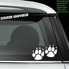 "2-Pack CAT PAWS with Claws Car Window Decal Sticker 3.5""X2.25"" Paw Prints 0035"