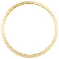 Original Factory 18K Yellow Gold Fluted Rolex Bezel For 36mm DateJust / Day-Date
