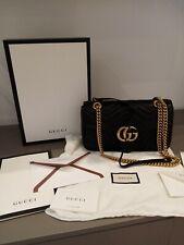 borsa gucci marmont nera originale con sacca ed cartellini di autenticità