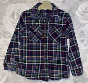 Boys Age 4-5 Years -  Long Sleeved Checked Shirt