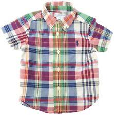 Ralph LAUREN Bebé Niño A Cuadros Camisa Algodón tela escocesa Madras ss 6/9M (75cm) BNWT