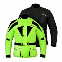 Hommes Imperméable Moto Motocross Textile CE Renforcé Veste Cordura