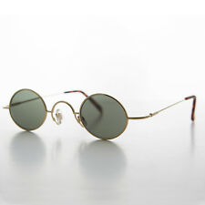 Small Oval Metal Wire Spectacle Vintage Sunglasses Gold - JOSEPH