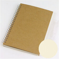 A5 Bullet Journal Notebook Hardcover Cardboard Dot Grid Spiral Diary Journal