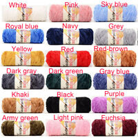 100g Chenille Yarn Velvet Yarn Texturized Polyester Blended Cotton Suggest  DIY~