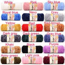 100g Chenille Yarn Velvet Yarn Texturized Polyester Blended Cotton Suggest  DIY~
