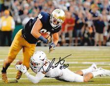 Durham Smythe signed Notre Dame Fighting Irish 8x10 photo autographed
