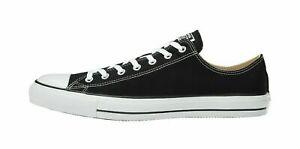 Converse M9166 Mens Low Top Canvas Shoes Black/White