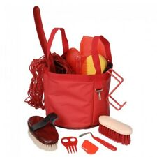 Tough-1 Red 12 Piece. Show Time Groomer Tote Horse Tack