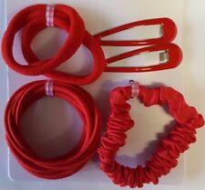 Childrens School Hair Accessory Set Elastics Ponios Scrunchie Slide Barrette
