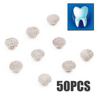Dental Orthodontic Lingual Buttons For Bondable Round Base 50 pack MESH