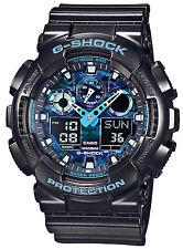 * Nuevo * Reloj para hombres g shock azul CASIO de gran tamaño XL GA-100CB-1AER 1ADR RRP £ 129