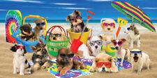 "Puppies Beach Towel Dogs Sunglasses Pool Souvenir 30""x60"""