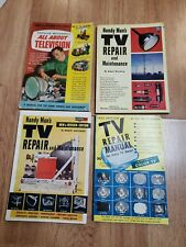 4 Vintage 1950's Tv Repair Manuals Books Magazine fawcett