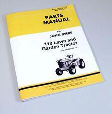 John Deere 110 Lawn Garden Tractor Mower Parts Manual Catalog Sn 250001+