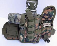Tactical Drop Leg Thigh Gun Pistol Holster Glock Sig H&K S&W (Marpat) Free Ship