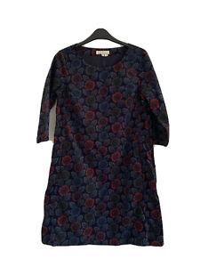 Seasalt West Pentire Dress Size 8 Cord Blue Floral