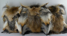 Real Natural Silver Red Cross Fox sections Fur Pillow new  made in usa