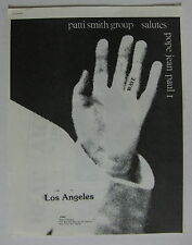 PATTI SMITH Salutes Pope Jean Paul 1 WAVE Los Angeles 1979 Hollywood Palladium