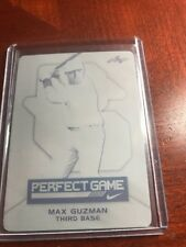 2015 Leaf Perfect Game AAC Black Plate 2/2 Max Guzman