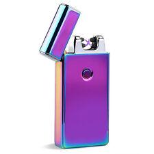 Elektro Feuerzeug DUAL Arc Lighter USB Zigarettenanzünder Winddicht Inhaber PAL