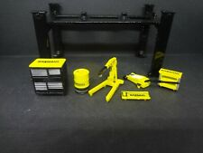 1:64 black Auto Lift & Bardahl Garage Equipment Shoptools Loose 1:64