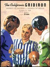 1939 Cal v Oregon Football Program Ex Condition