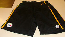 2013 Pittsburgh Steelers Team Issue Shorts L Football NFL On Field Mesh