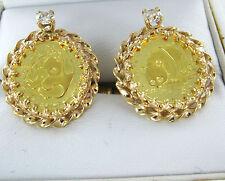 14KT  GOLD COIN 5 YUAN DIAMOND PANDA CUFFLINKS CHINA PEOPLES REPUBLIC 990008849
