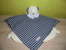 Bär  (  blau -  weiß  )    Schmusetuch    Käthe Kruse   Kuscheltuch