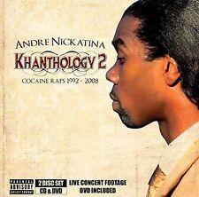 ANDRE NICKATINA - Khanthology Vol. 2: Cocaine Raps 1992-2008  (2009 CD/DVD)  NEW