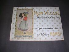 Alsatica Hansi Mon village Edition originale 1913 album illustrée couleurs