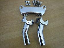 "4 1/2"" Pullback Handle Bar Risers Kit Chrome Fits 1"" Harley Davidson type"