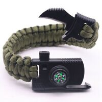 Multi-functional Outdoor Bracelet Camping Hiking Survival Gear Escape Multi A2Z3