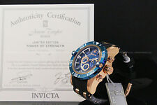 Invicta Men JT Scuba Pro Diver III LE Chrno 18K Rose Gold Plated Blue Dial Watch