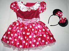 Nwt Disney Pink Minnie Mouse Costume Girl Size 4-5 Dress Ears Halloween