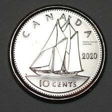 Canada 2020 BU Nice UNC 10 cent Canadian Dime from mint roll