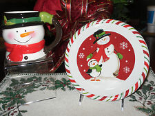 """SNOWMAN PENGUIN 8"""" PLATE AND MATCHING MUG CHRISTMAS GREAT FOR KIDS"""