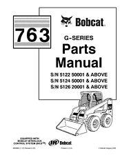 Bobcat parts manual 763 G-Series Skid-Steer Loader 6900986 (11-01) Revised (4-02