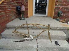 "VINTAGE 1963 SCHWINN PANTHER/ETC FRAME and PARTS ""FRAME HAS TABS FOR TANK"" GOOD"