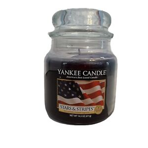 Yankee Candle Stars & Stripes Housewarmer Jar 14.5 oz New Rare