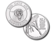 1 TROY OZ 999 Fine Silver Round Adult Novelty Big Cats Are Dangerous
