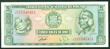 TWN - PERU 99a - 5 Soles 20/6/1969 UNC