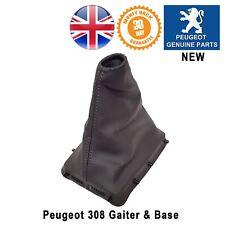 Peugeot 308 Gaiter Gearstick Base Black Fake Leather Original New 9801108980